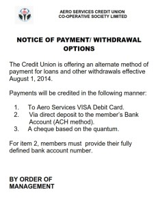 NOTICE FOR NEW PAYMENT AND WITHDRAWAL OPTIONS_001