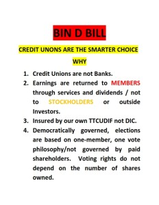 CREDIT UNIONS ARE NOT BANKS._001