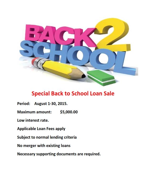Flier for Back to School Loan._001