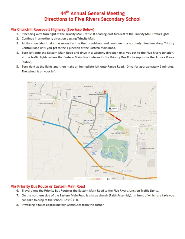 Directions to Five Rivers Secondary School_001
