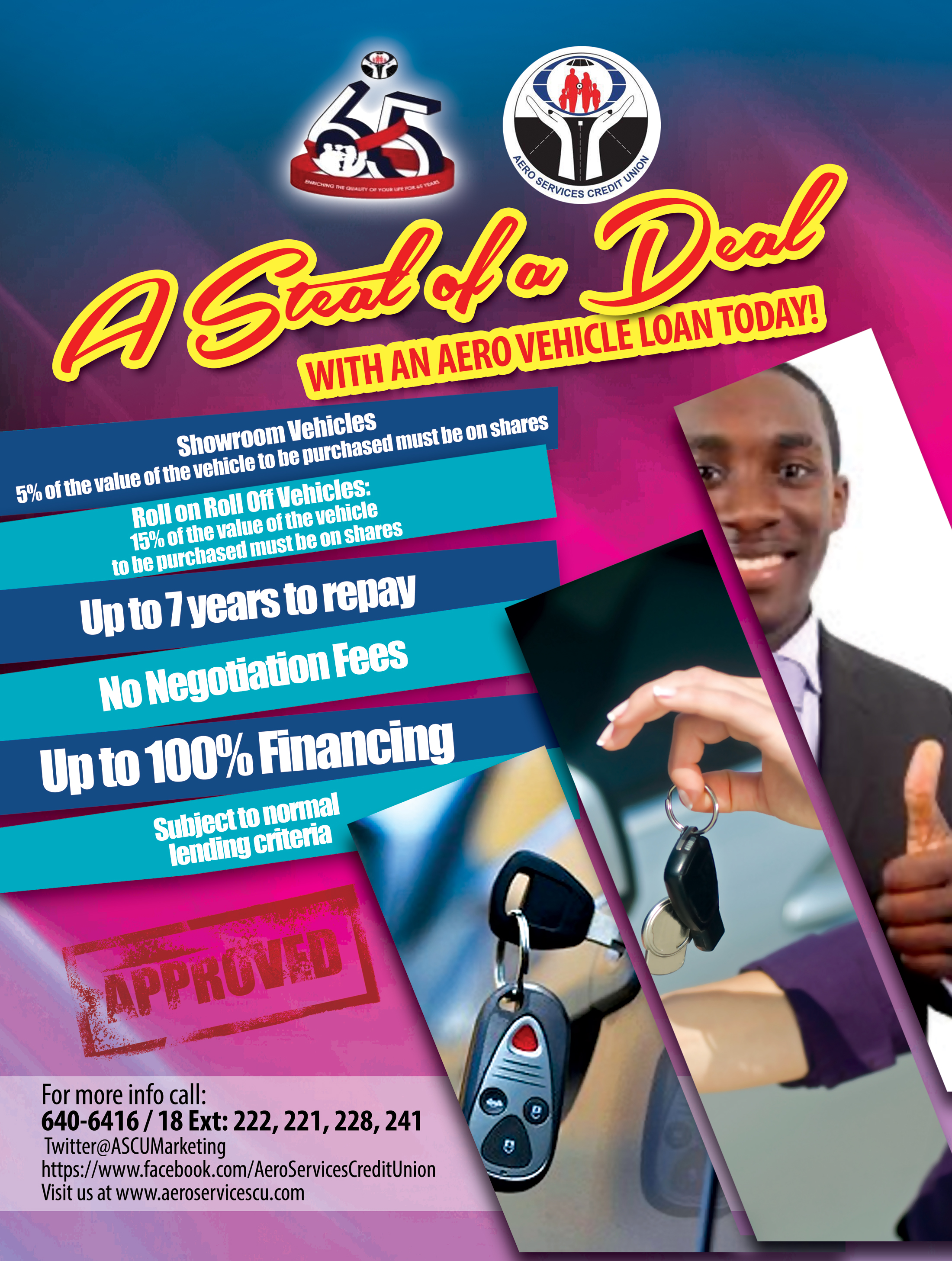 "ASCU Presents ""A Steal of a Deal Vehicle Loan !"""